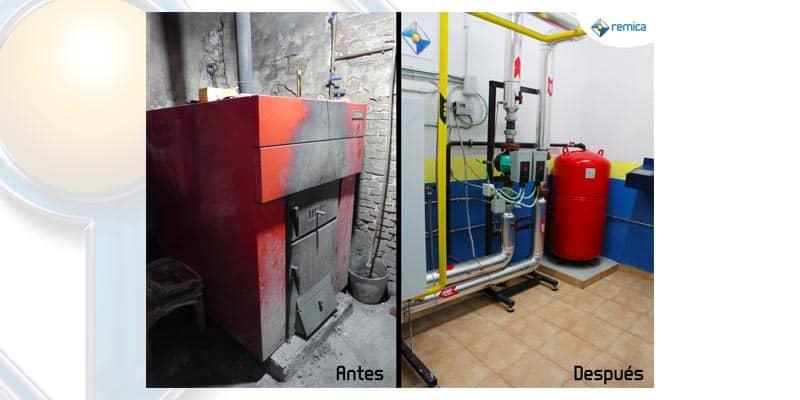 Antes y después de una sala de carbón con Remica