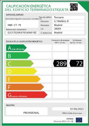 calificación energética del edificio
