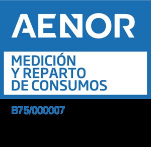 Sello medicion reparto consumo AENOR